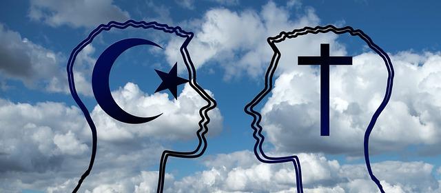 Islam vs Christianity symbols