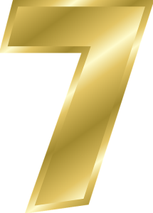 number 7 in gold