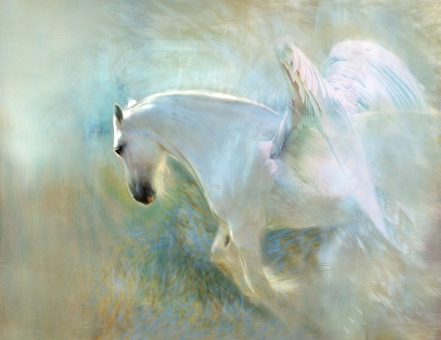 White Angelic Horse