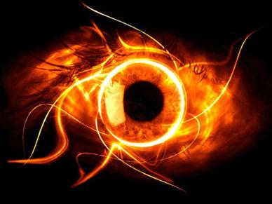 Eye like fire