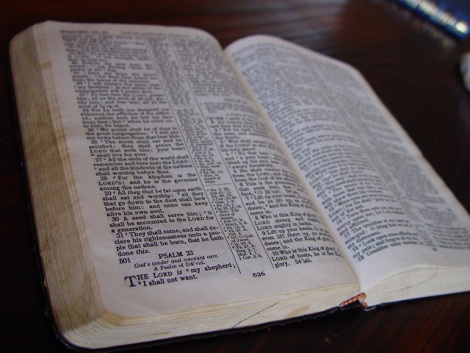 Holy Bible Book Opened