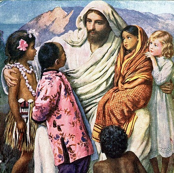 Jesus with his children