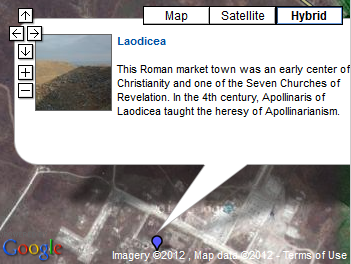laodicea on the map